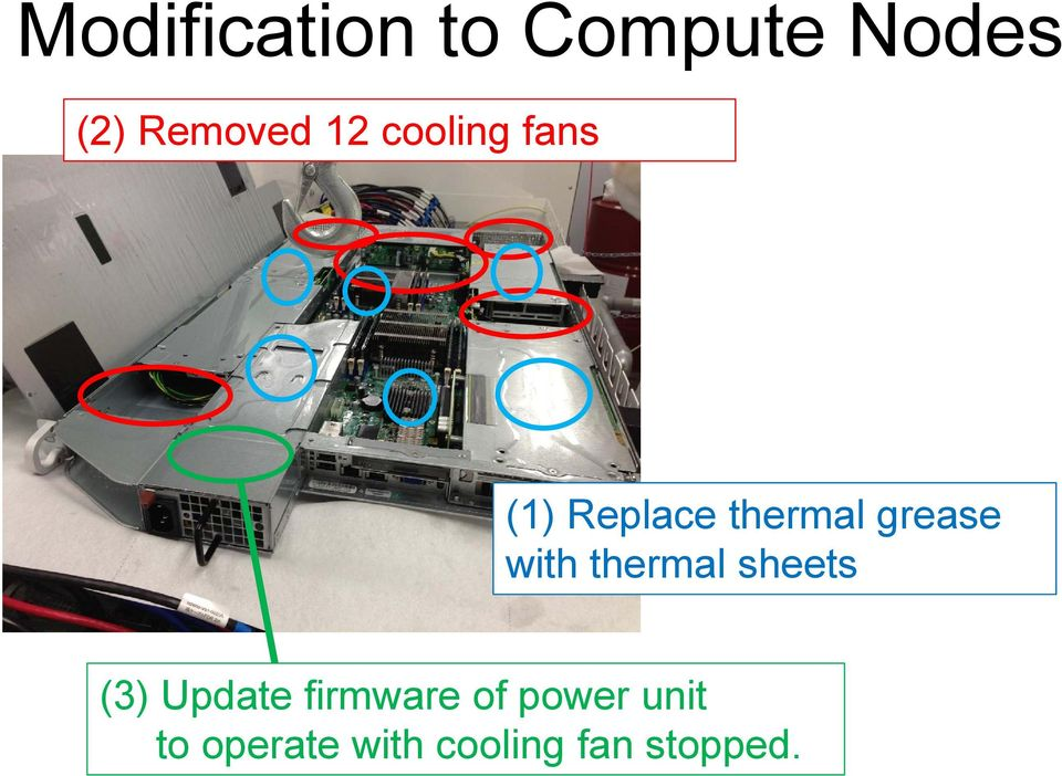 with thermal sheets (3) Update firmware of