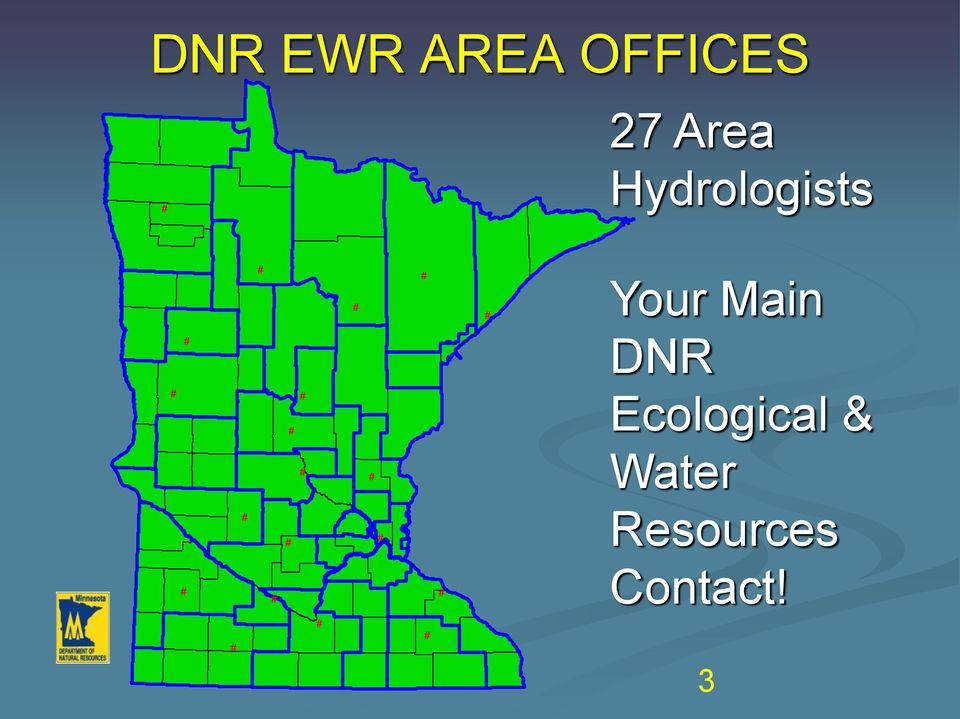 DNR # # # Ecological & # # Water