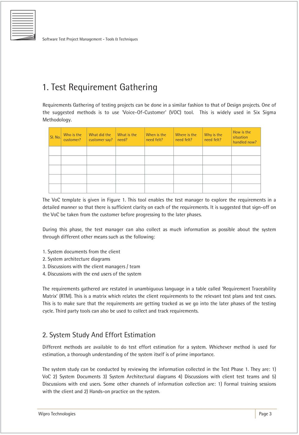 Software Test Project Management Tools Techniques PDF - Software requirements gathering tools