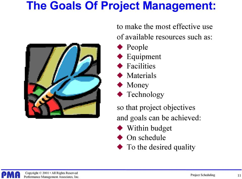 Money Technology so that project objectives and goals can be achieved:
