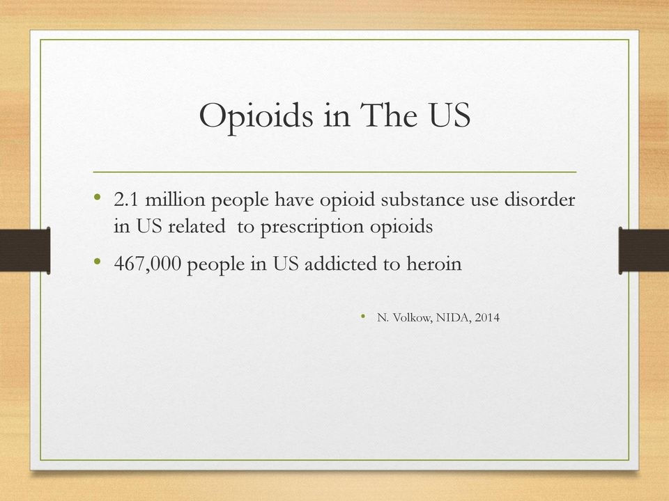 disorder in US related to prescription