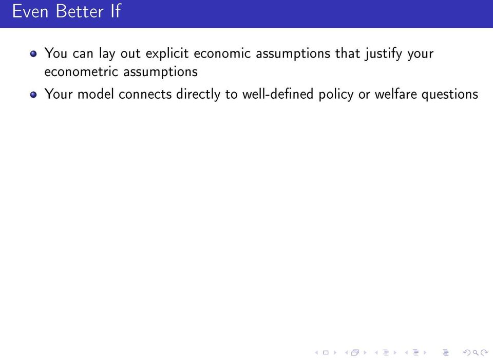 econometric assumptions Your model connects