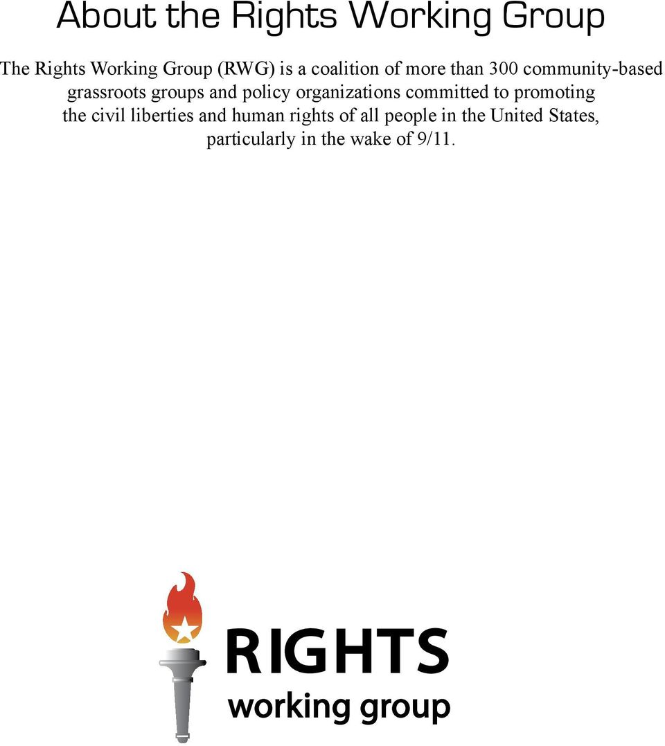 organizations committed to promoting the civil liberties and human rights