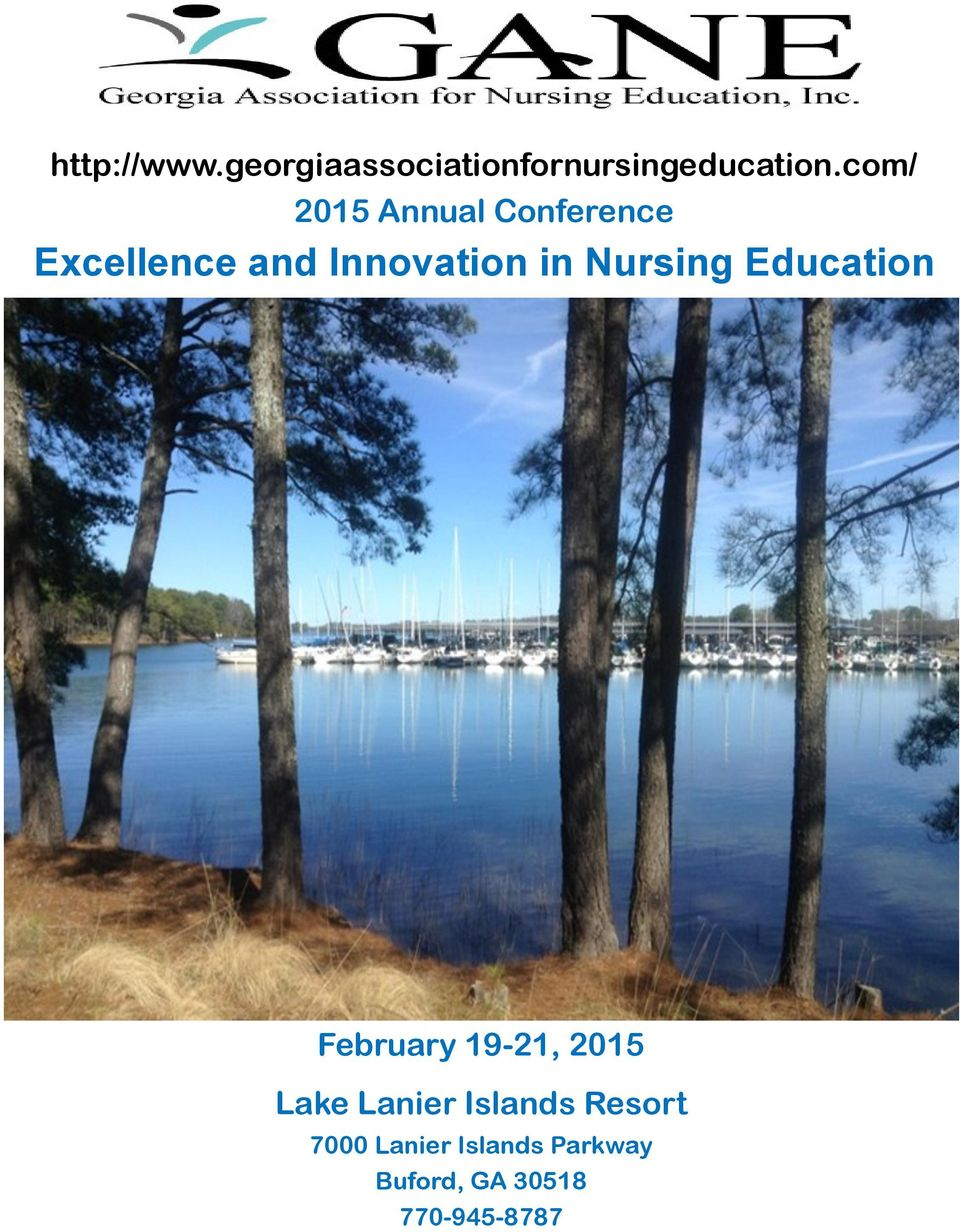 Nursing Education February 19-21, 2015 Lake Lanier