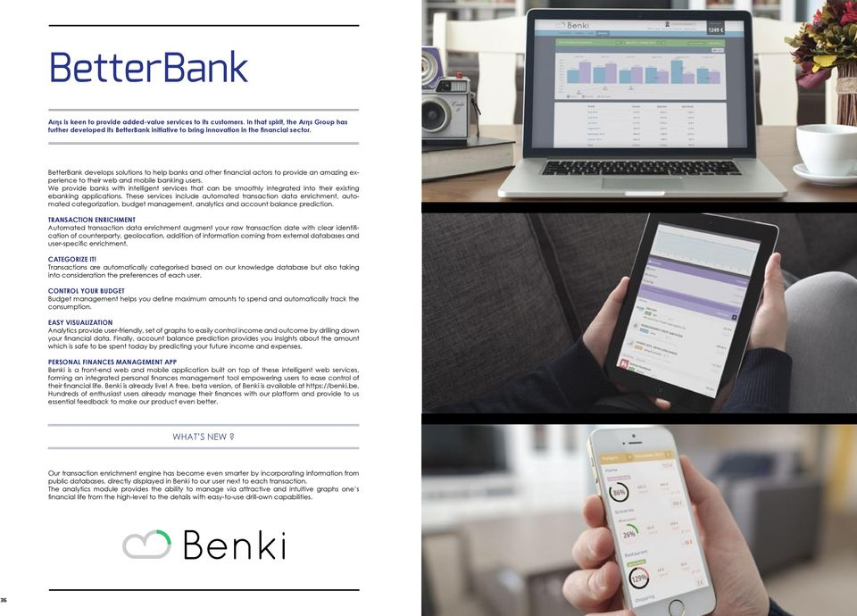 We provide banks with intelligent services that can be smoothly integrated into their existing ebanking applications.