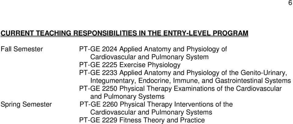 Integumentary, Endocrine, Immune, and Gastrointestinal Systems PT-GE 2250 Physical Therapy Examinations of the Cardiovascular and