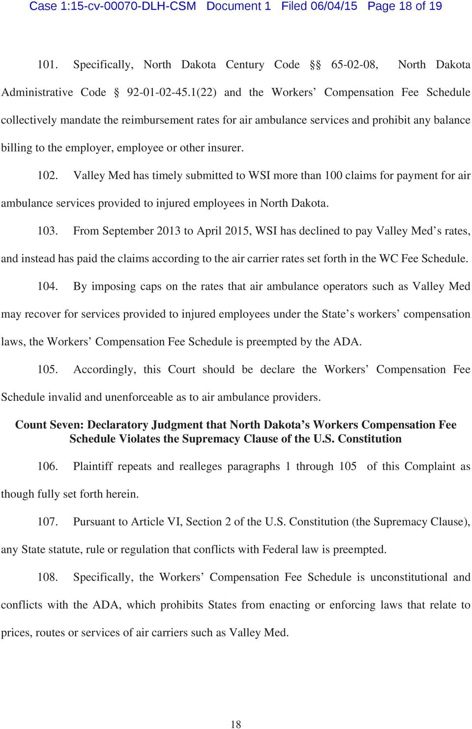 Case 1 15 Cv Dlh Csm Document 1 Filed 06 04 15 Page 1 Of