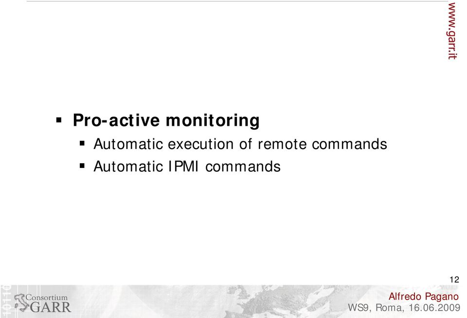 of remote commands