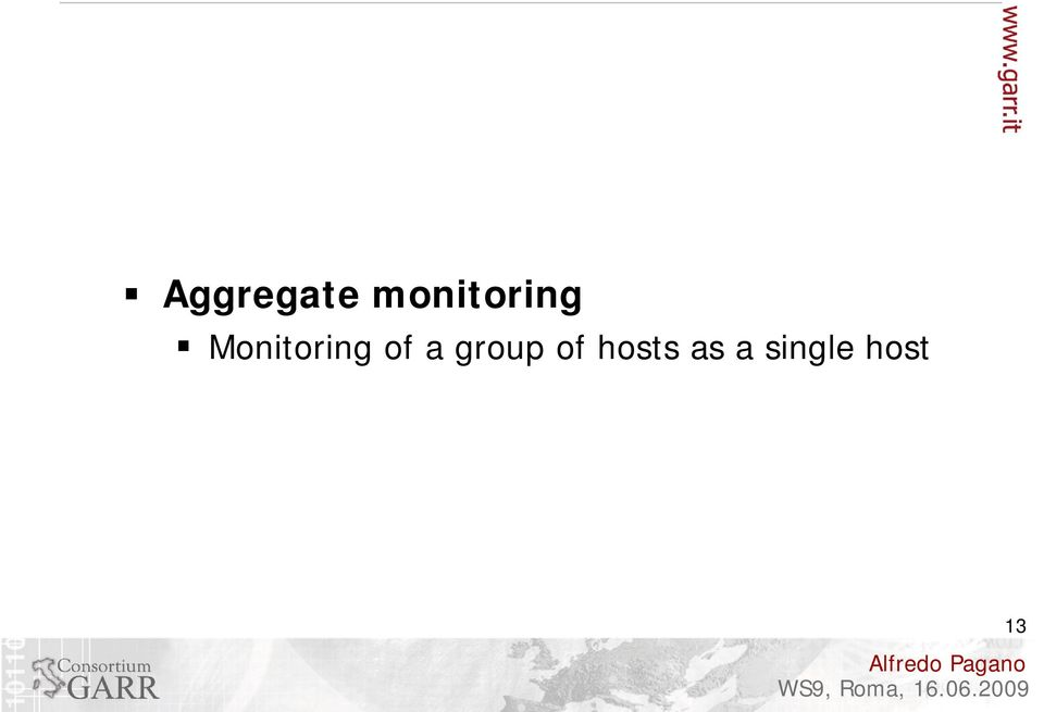 Monitoring of a