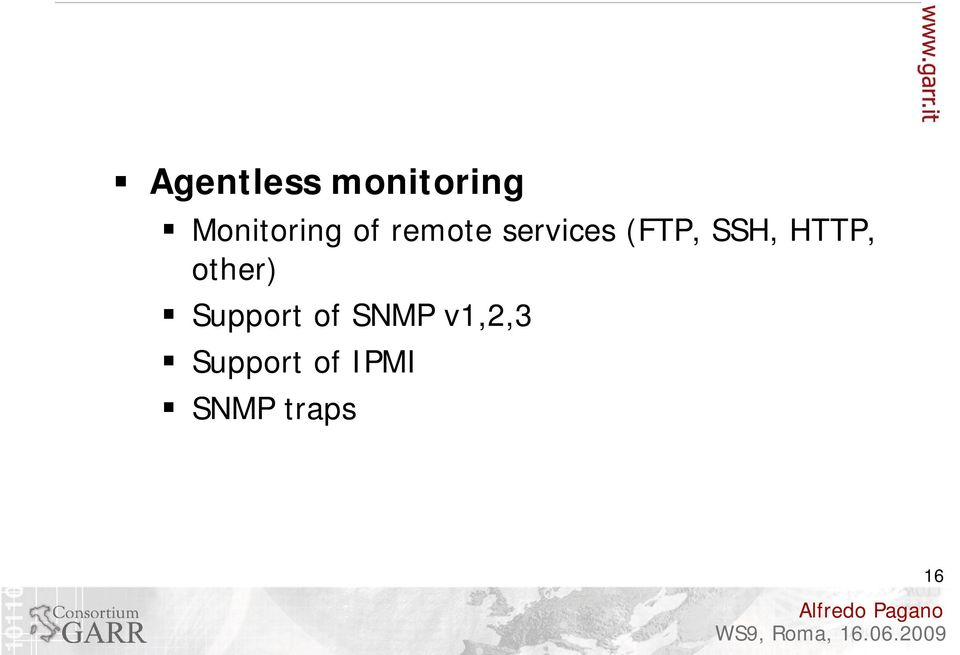 HTTP, other) Support of SNMP