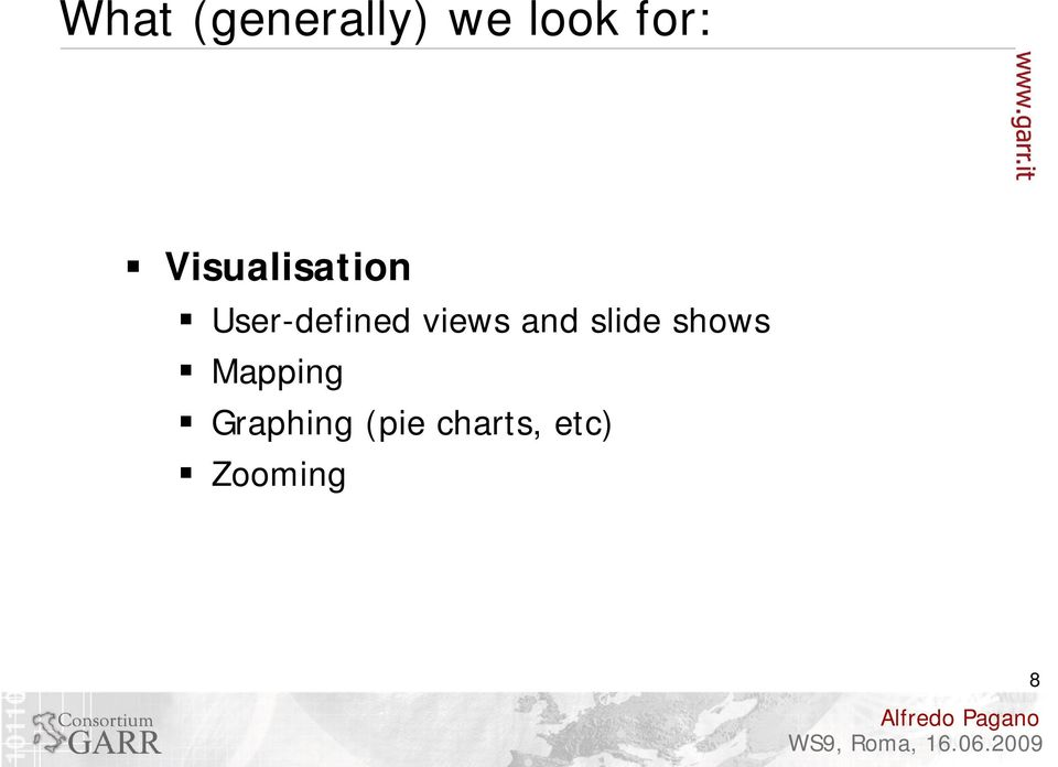 views and slide shows Mapping