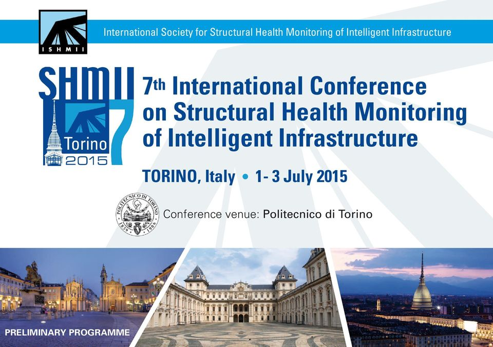 Health of Intelligent Infrastructure TORINO, Italy 1-3 July