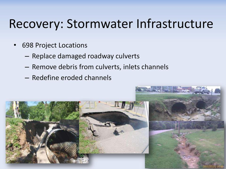 roadway culverts Remove debris from