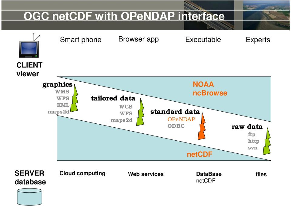 server standard data OPeNDAP ODBC NOAA ncbrowse netcdf raw data ftp