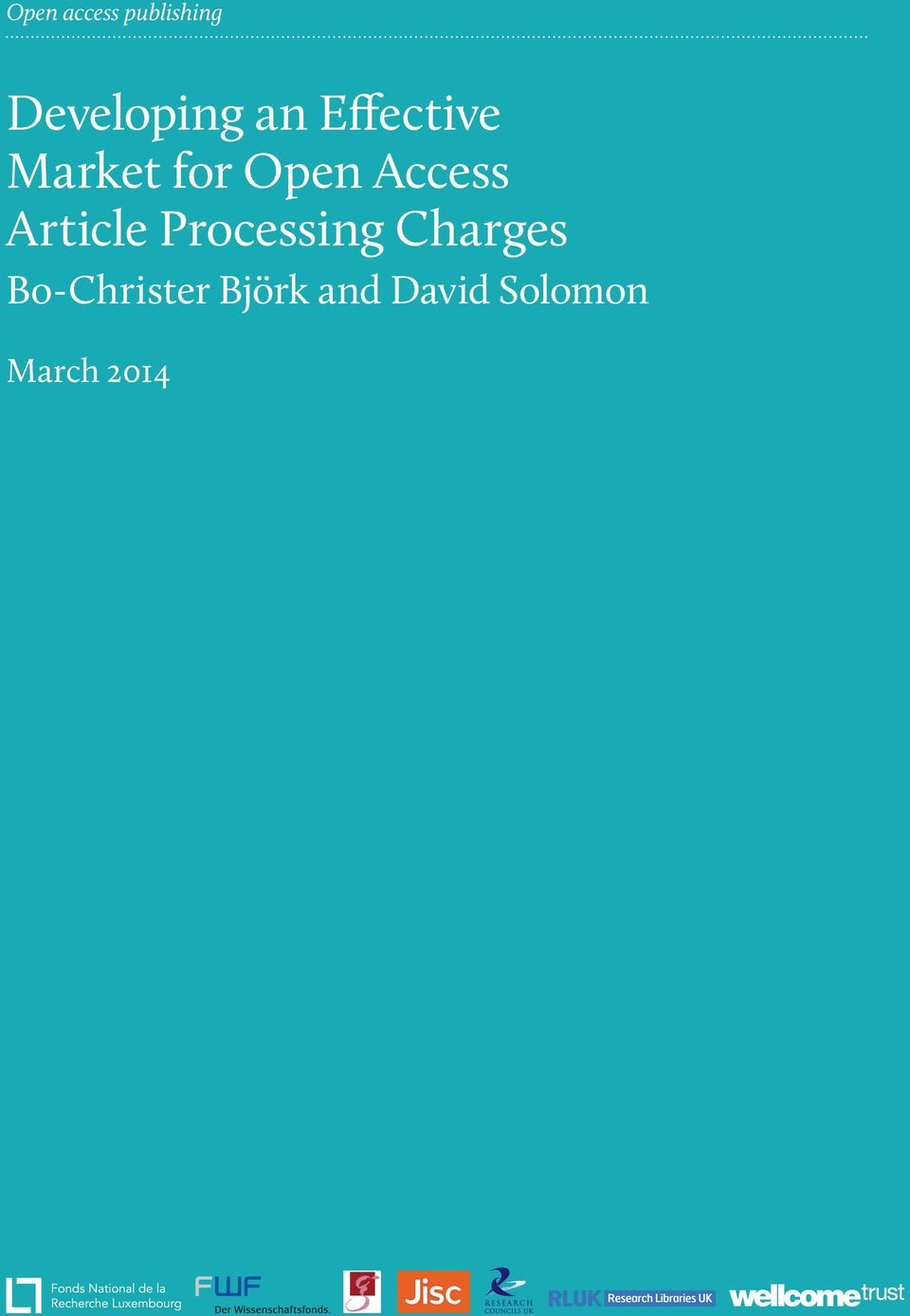 Processing Charges Bo-Christer Björk and