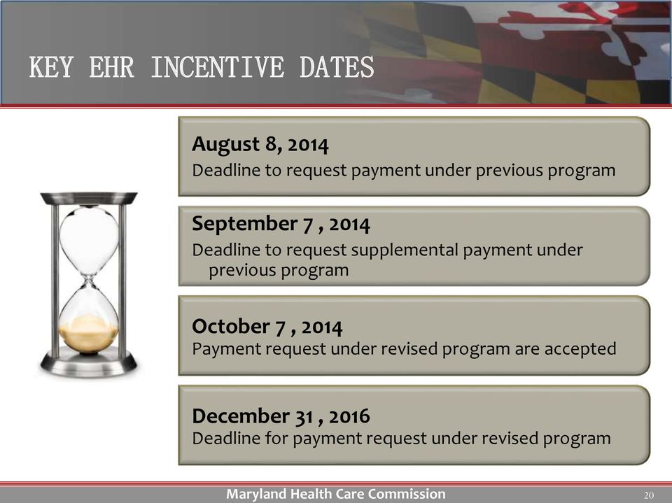 under previous program October 7, 2014 Payment request under revised program