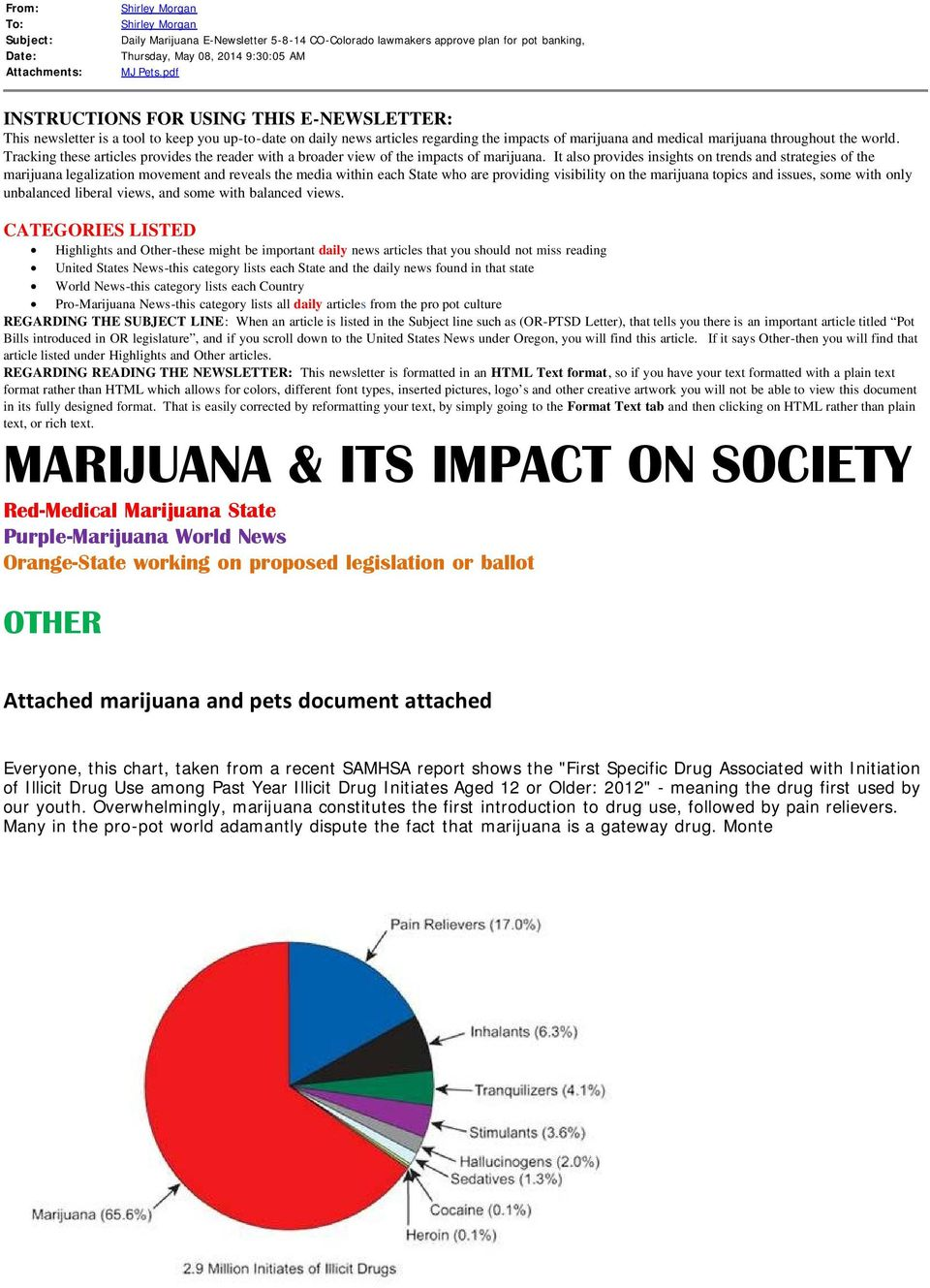 Tracking these articles provides the reader with a broader view of the impacts of marijuana.