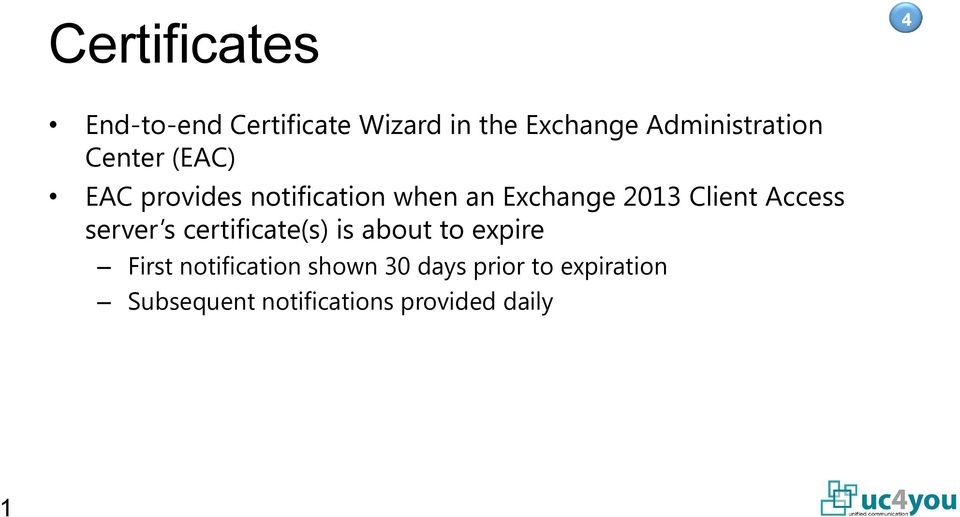 2013 Client Access server s certificate(s) is about to expire First