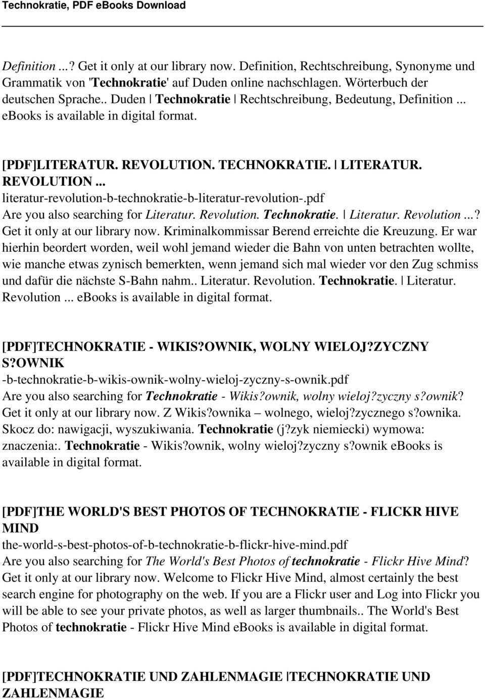 Technokratie, PDF  ==>Download: Technokratie, PDF ebook - PDF