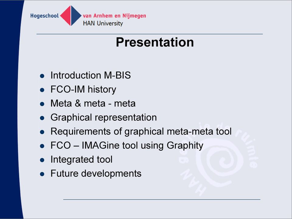 Requirements of graphical meta-meta tool FCO