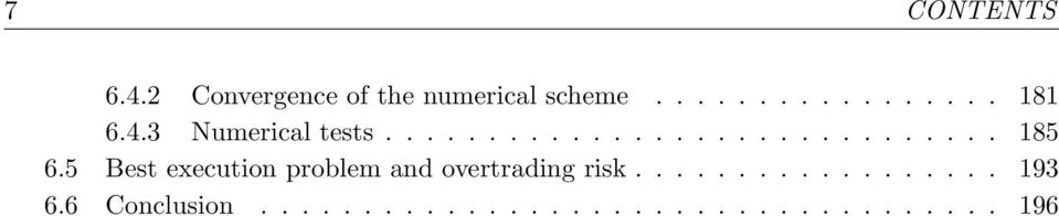 5 Best execution problem and overtrading risk.................. 193 6.
