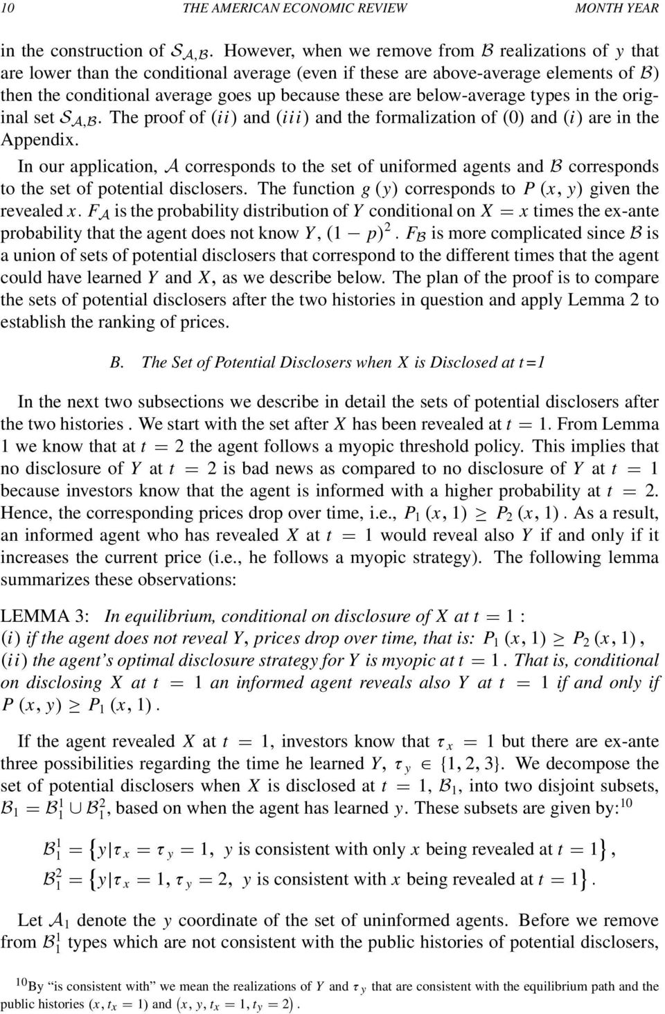 below-average types in the original set S A,B. The proof of (ii) and (iii) and the formalization of (0) and (i) are in the Appendix.