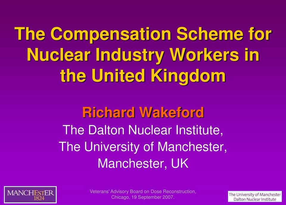 Richard Wakeford The Dalton Nuclear