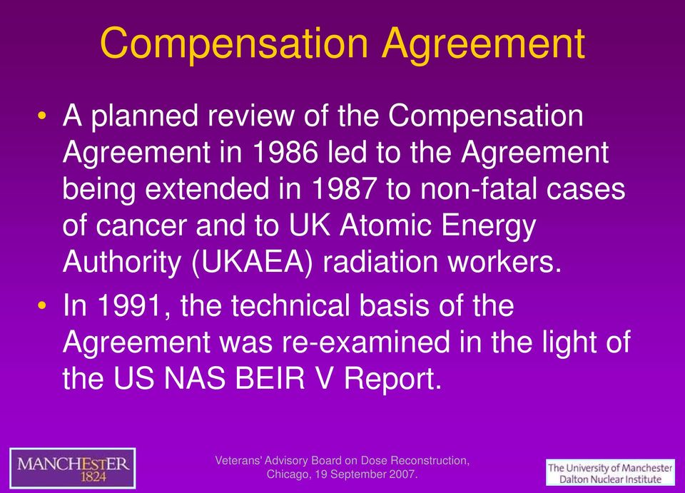 to UK Atomic Energy Authority (UKAEA) radiation workers.