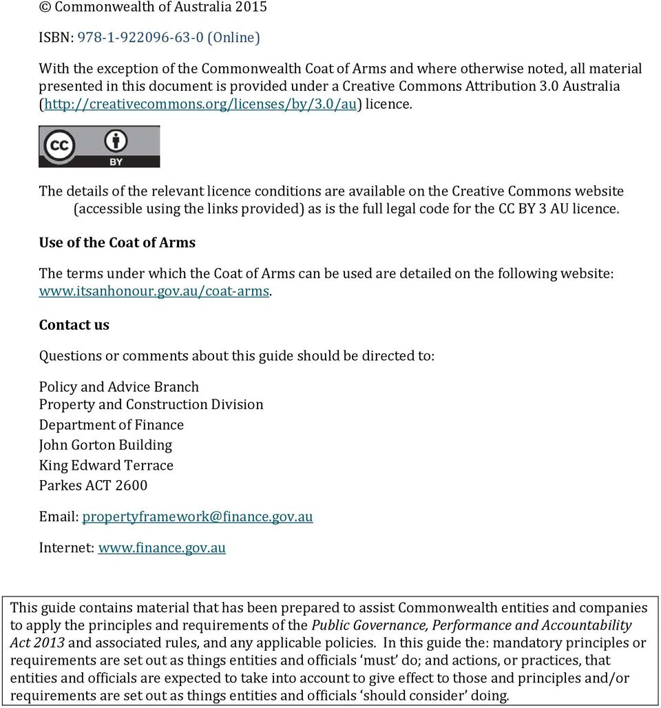 The details of the relevant licence conditions are available on the Creative Commons website (accessible using the links provided) as is the full legal code for the CC BY 3 AU licence.