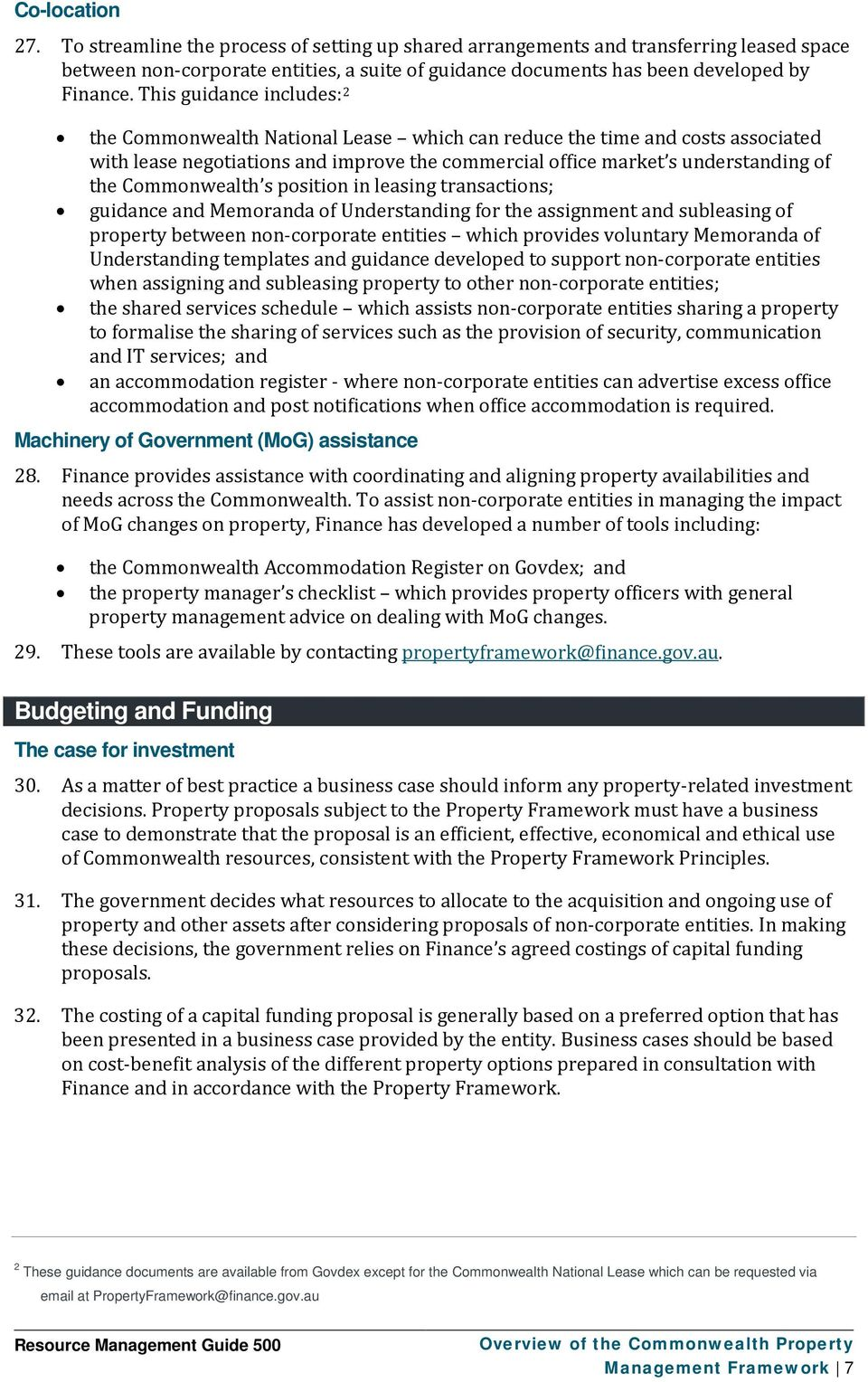 Commonwealth s position in leasing transactions; guidance and Memoranda of Understanding for the assignment and subleasing of property between non-corporate entities which provides voluntary