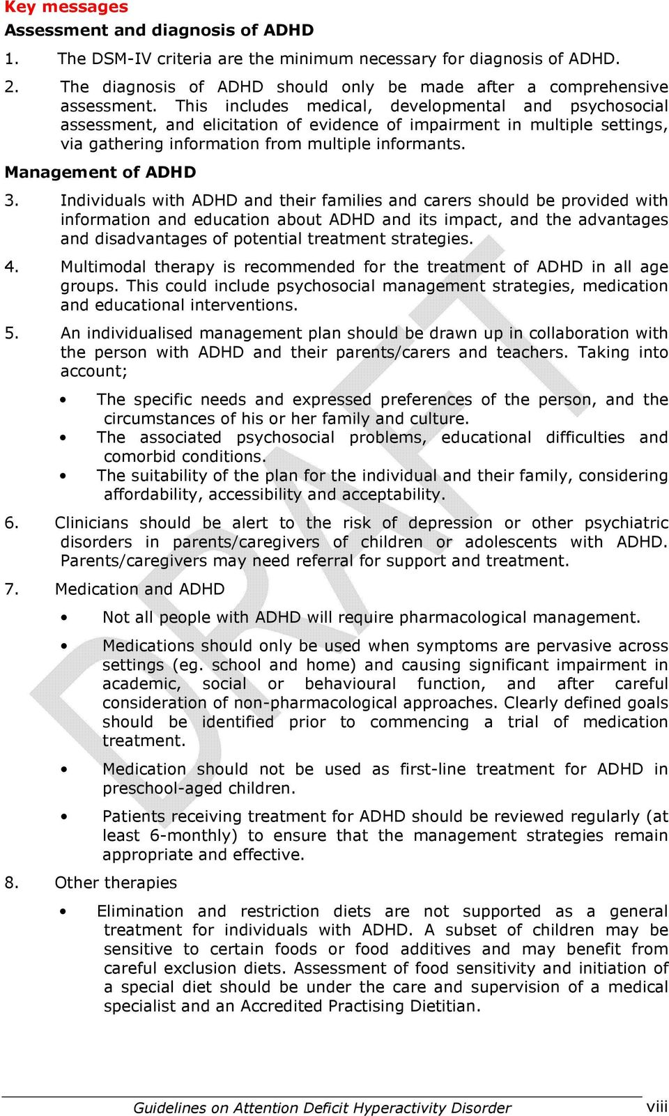 Management of ADHD 3.