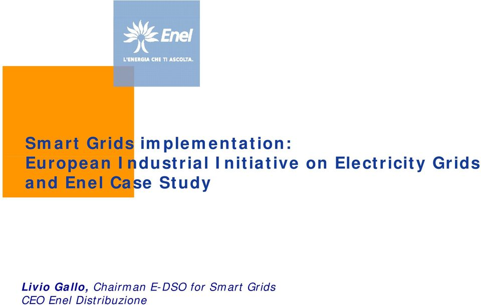 Grids and Enel Case Study Livio Gallo,