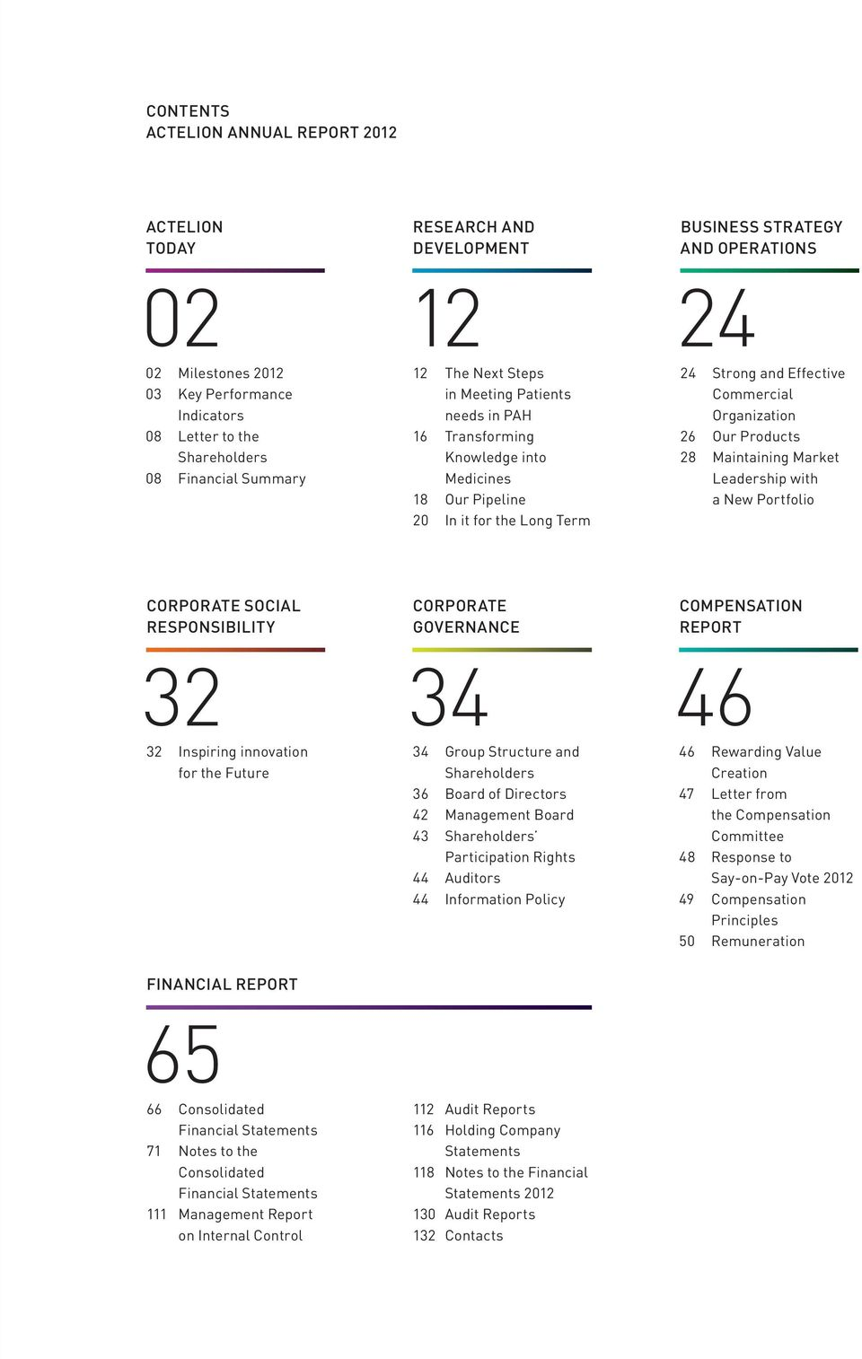 Organization 26 Our Products 28 Maintaining Market Leadership with a New Portfolio CORPORAte SOCIAL responsibility 32 32 Inspiring innovation for the Future CORPORAte GOVernANCE 34 34 Group Structure
