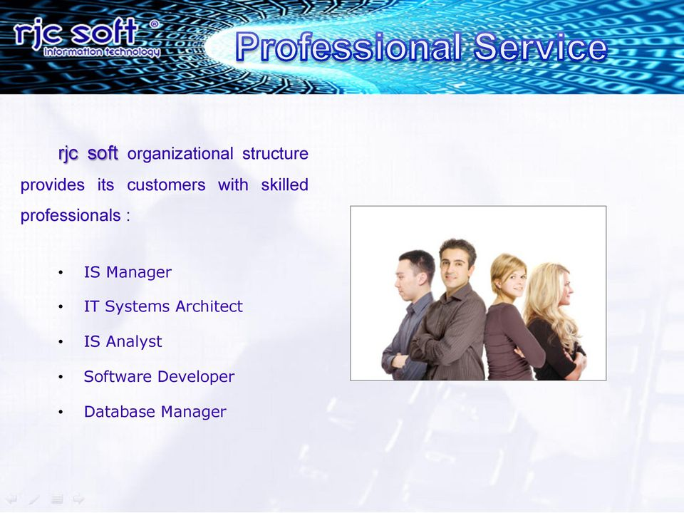 professionals : IS Manager IT Systems