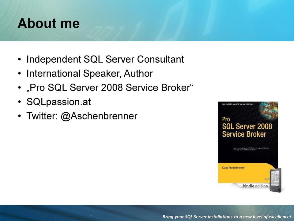 Author Pro SQL Server 2008 Service