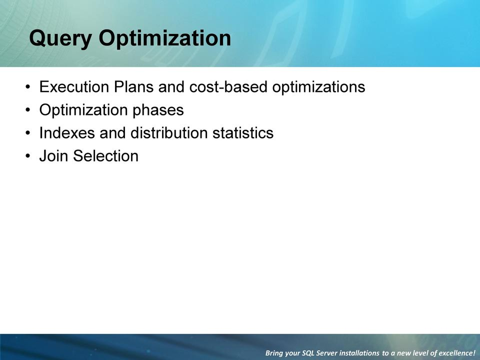 optimizations Optimization phases