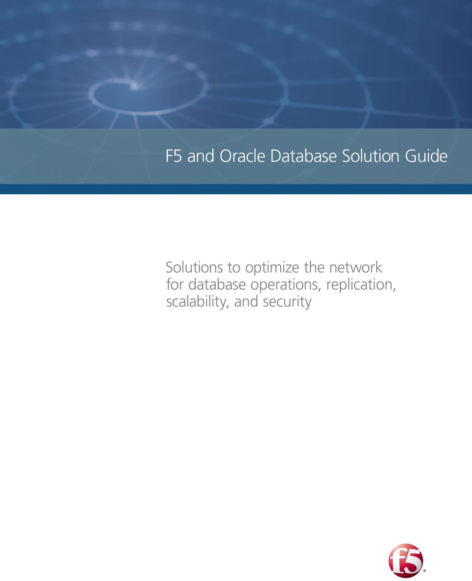network for database operations,