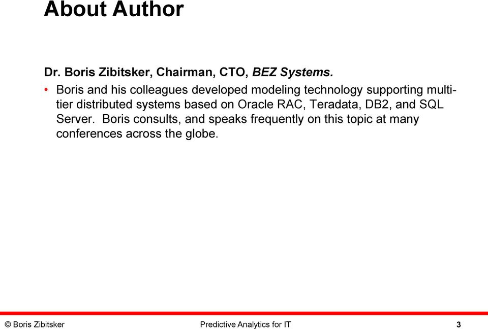 distributed systems based on Oracle RAC, Teradata, DB2, and SQL Server.
