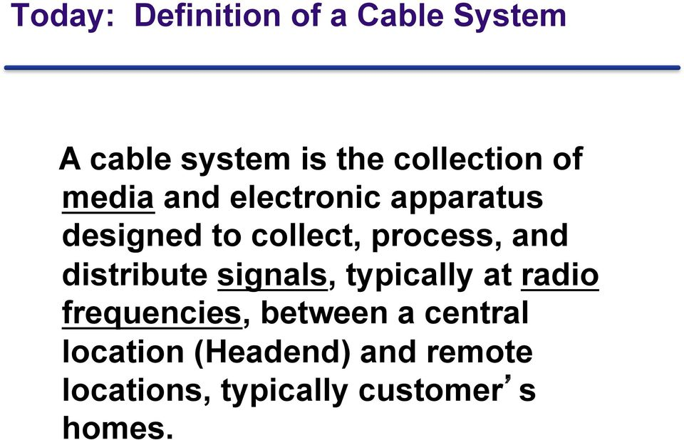 distribute signals, typically at radio frequencies, between a