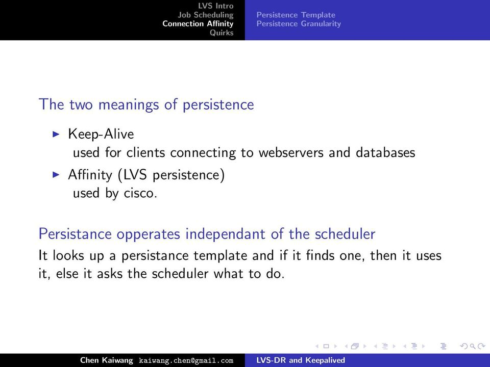 persistence) used by cisco.