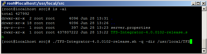 How to install TFS on Linux without GUI(X-window) TFS supports command line installation because X-window is often not running on Linux systems due to high resource requirements. #.