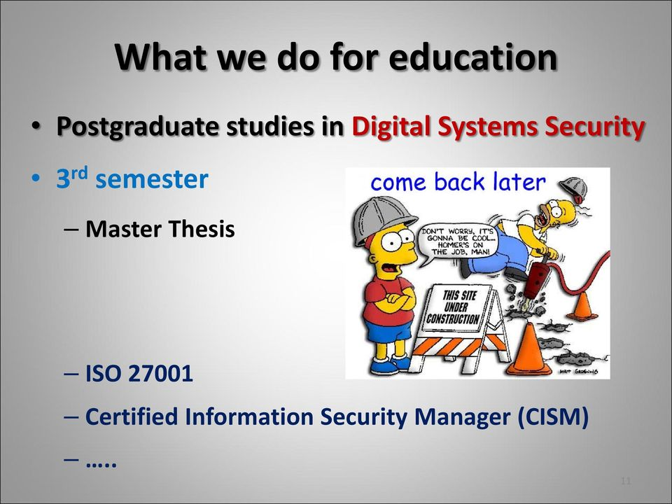 semester Master Thesis ISO 27001