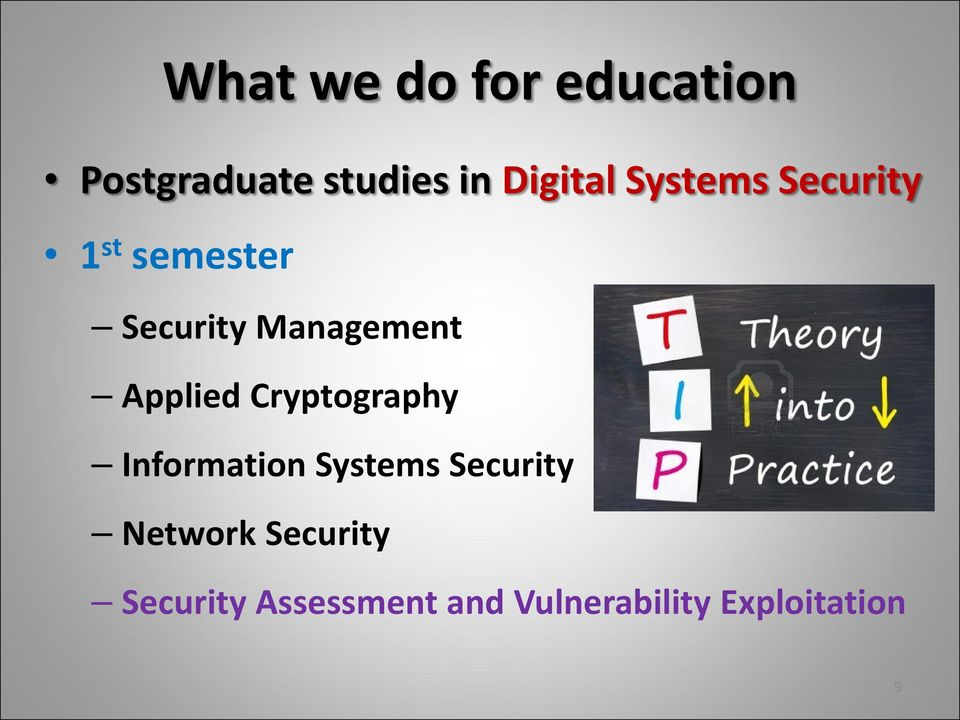 Applied Cryptography Information Systems Security