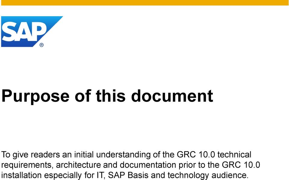 0 technical requirements, architecture and documentation