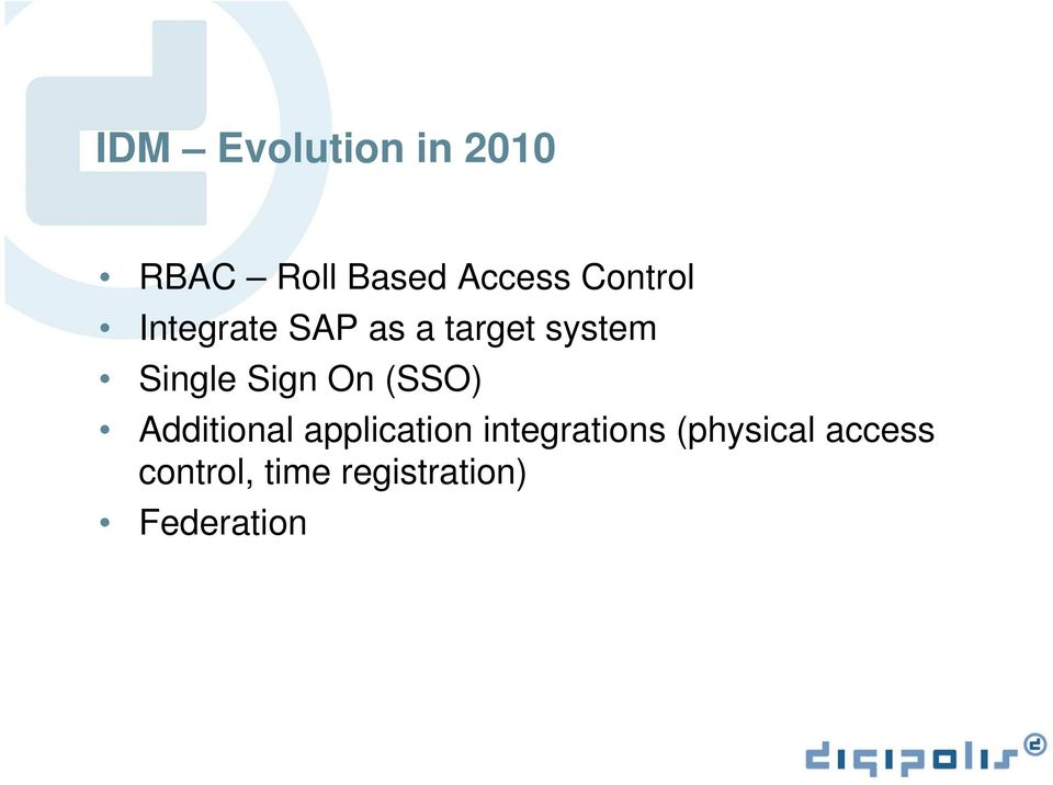 Sign On (SSO) Additional application integrations