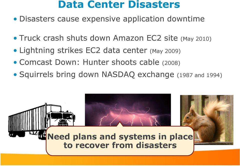 (May 2009) Comcast Down: Hunter shoots cable (2008) Squirrels bring down