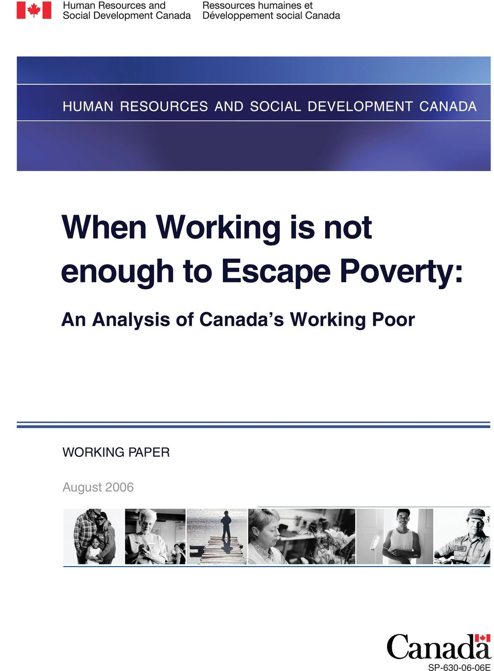Canada s Working Poor WORKING