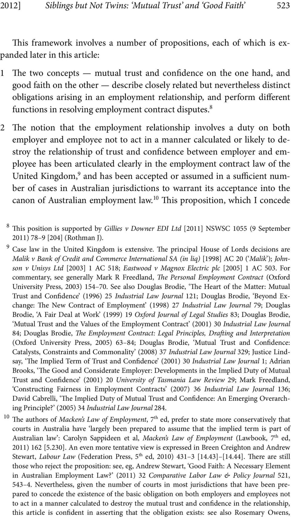 resolving employment contract disputes.