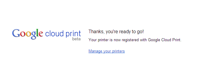 (8) Tap Finish printer registration. Sign in to Google Services if it has not been done.