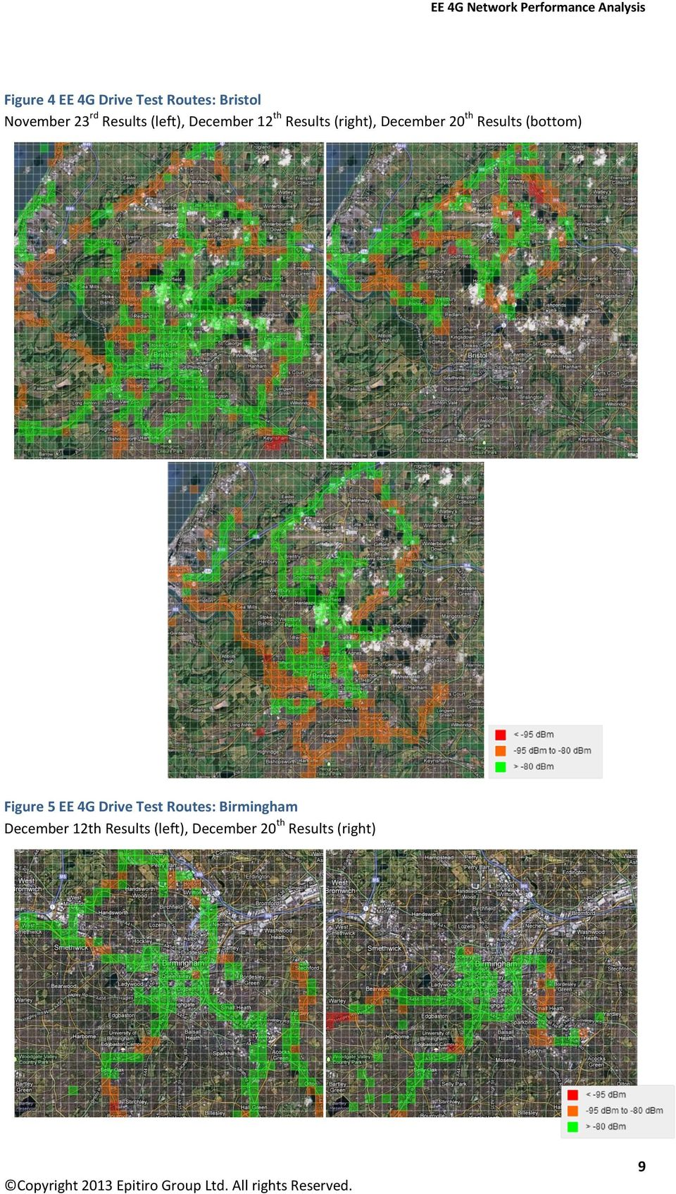 th Results (bottom) Figure 5 EE 4G Drive Test Routes: